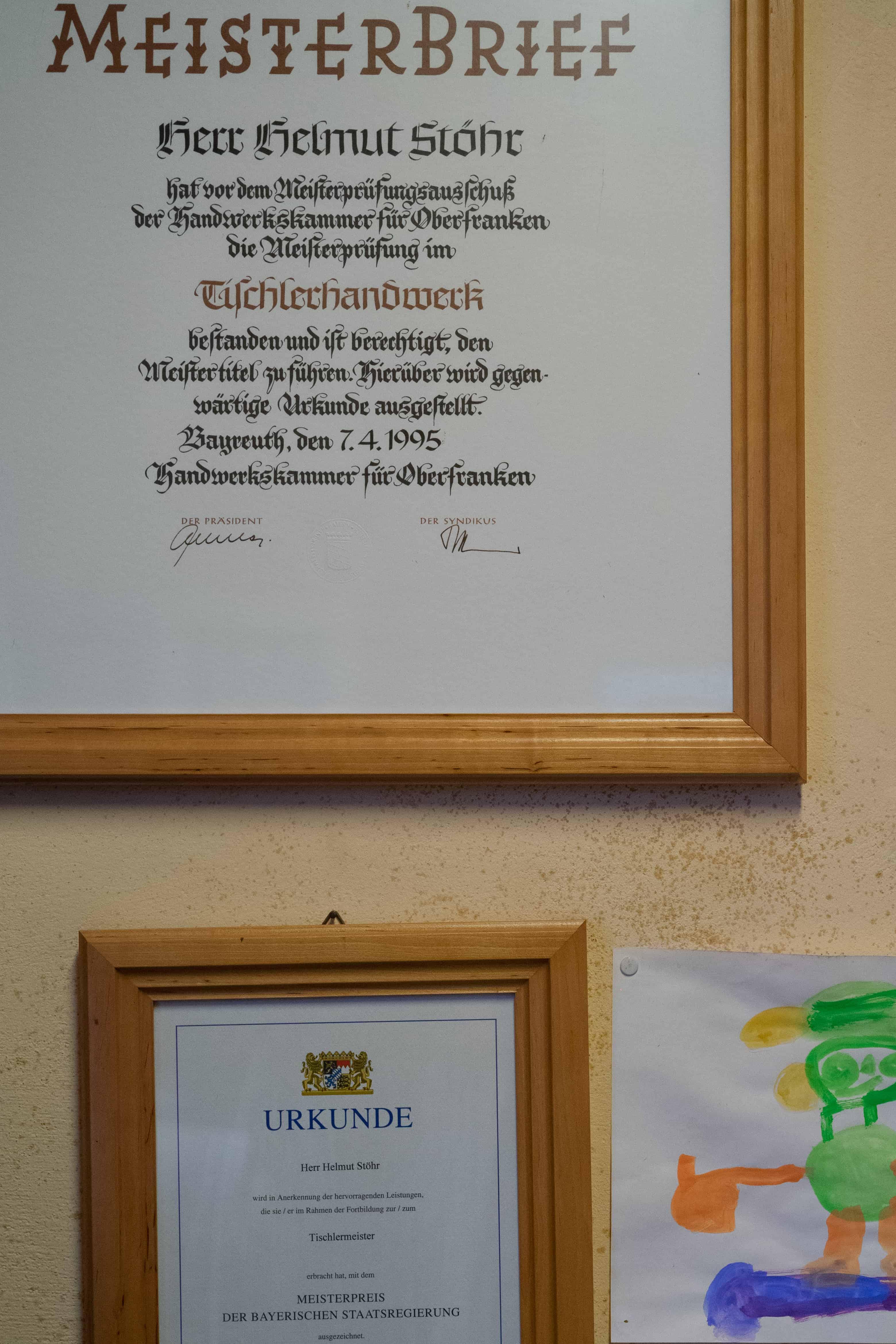 Meisterbrief Helmut Stöhr