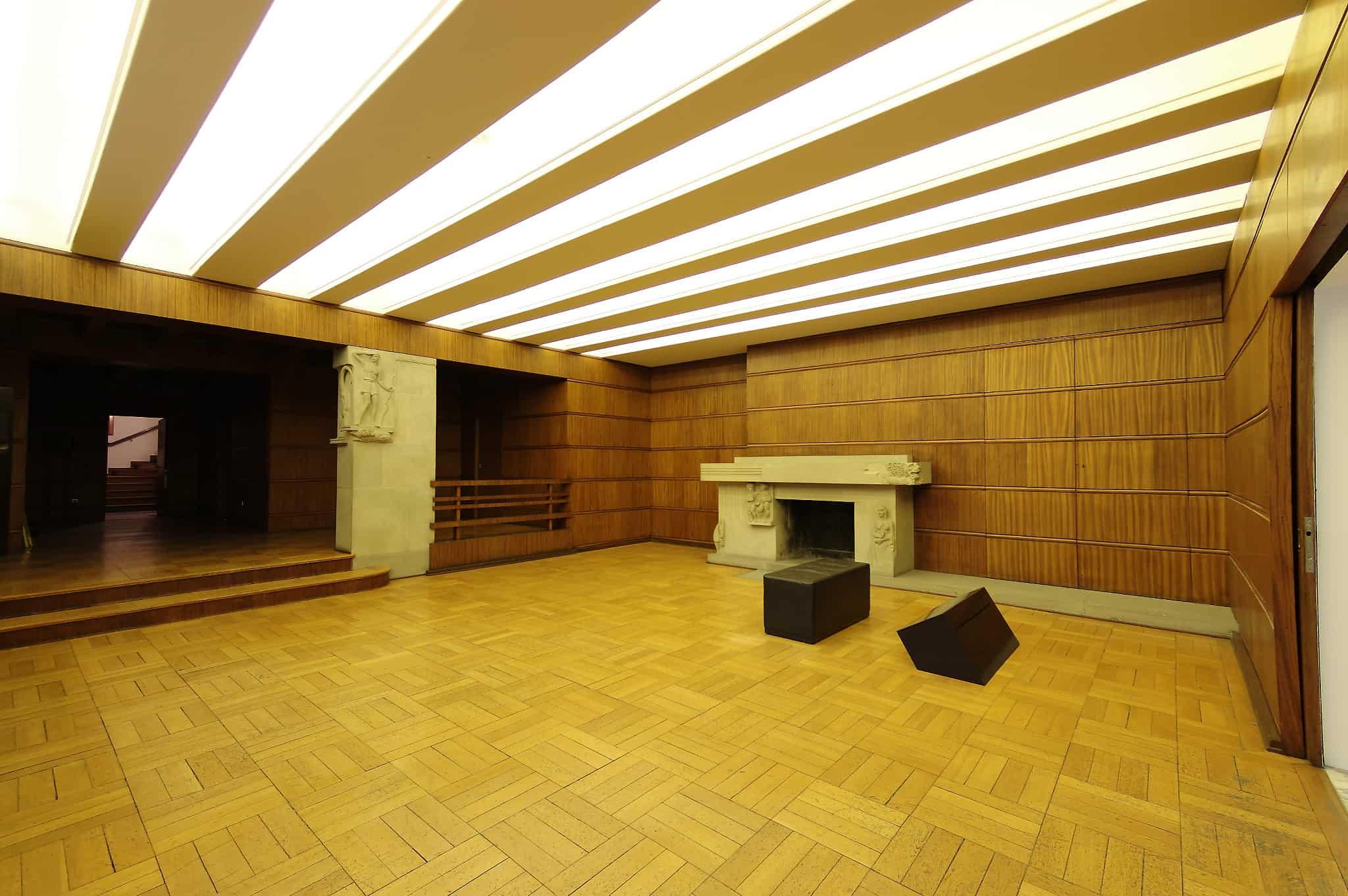 Furniertes Kaminzimmer im Richard Wagner Museum in Bayreuth