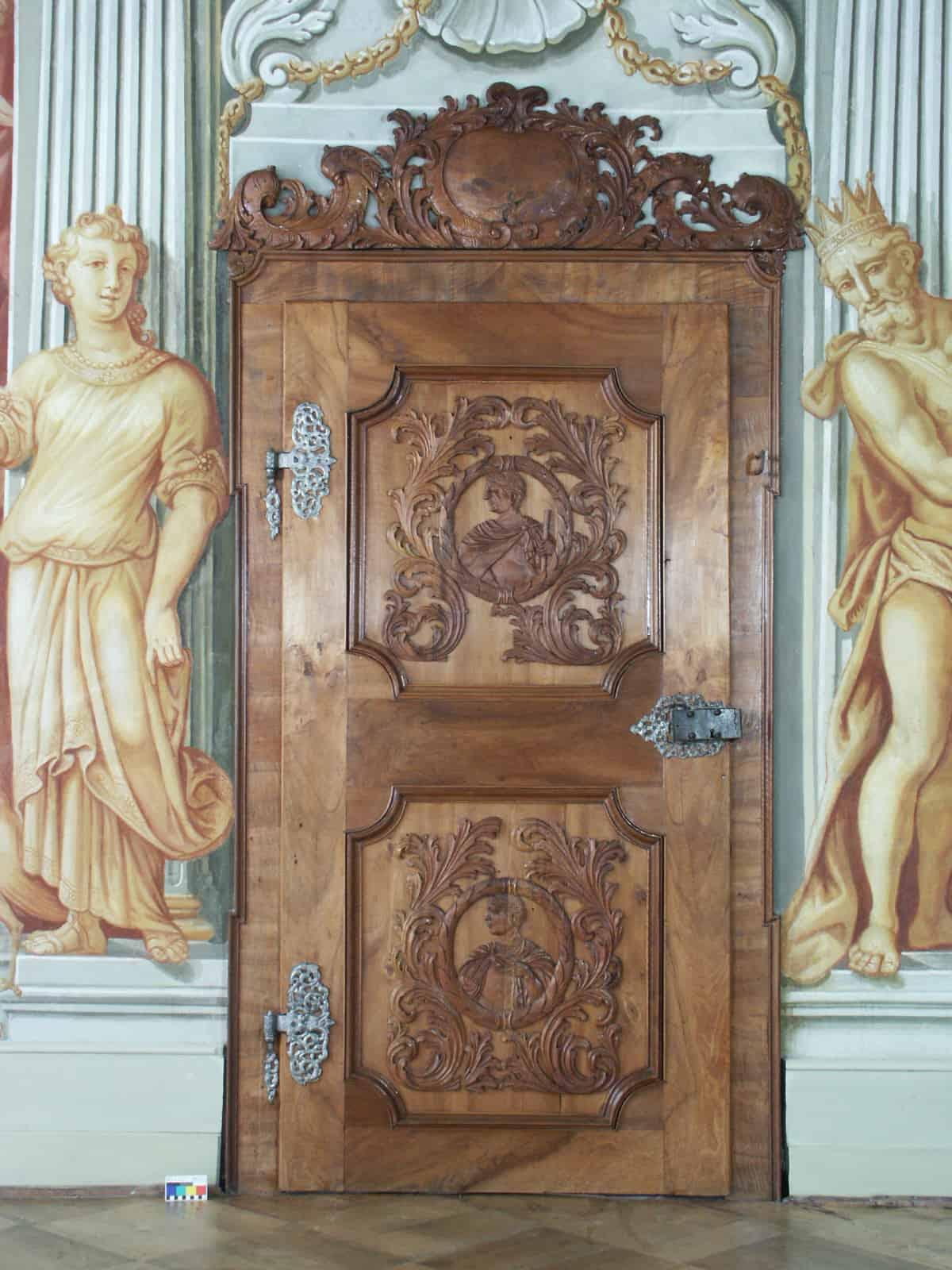 Türe Gartensaal Augustiner-Chorherrenstift Herrenchiemsee